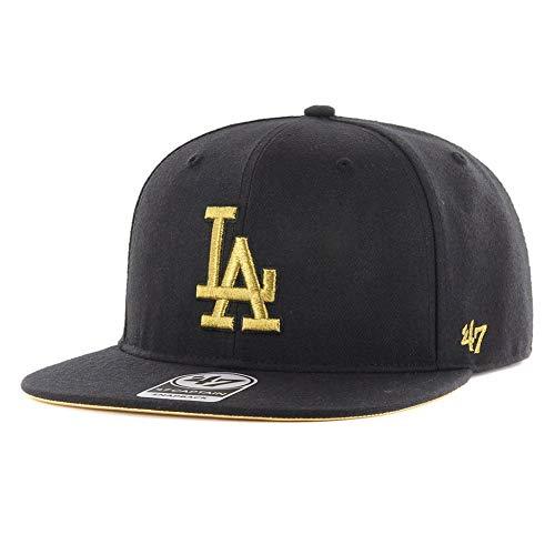 47Brand Snapback Cap LA Dodgers B-MTLVS12WBP-BK Schwarz, Size:ONE Size (Snapback 47brand)