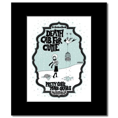 DEATH CAB FOR CUTIE - Pomona Ca 2004 Matted Mini Poster - 24.5x17.5cm (Ca Pomona)