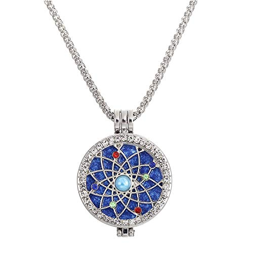 VAWAA Schmuck Bubble Bead Cosmos Stars Ätial Oil Aroma Adorned Gift Crystal Mesh Sweater Halskette (Günstige Bubble Halskette)