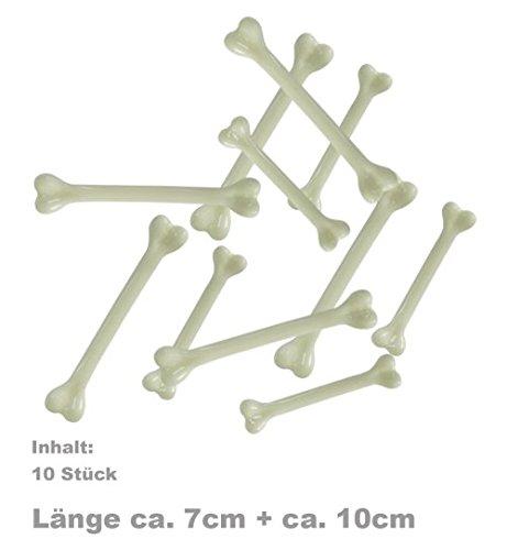 Halloween Deko - Knochen 10 STK ca 7 und 10 cm (Knochen Halloween)