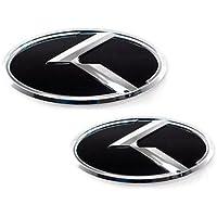 ZEO Front Hood Grill + Rear Trunk K Logo Emblem 2-pc Set For 2011 2012 2013 Kia Sportage by Kia