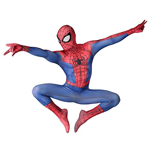 YueYong 3D-Digitaldruck Parallel Universe New Era Spinne I Man Peter Park Cosplay Siamese All-Inclusive-Strumpfhose,Child-M