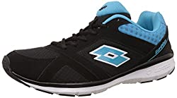 Lotto Mens Sunrise Iii Black and Blue Running Shoes - 10 UK/India (44 EU)