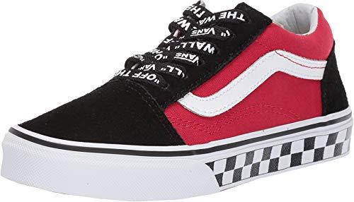 Vans junior Schuhe niedrige Turnschuhe VN0A38HBVI71 Old Skool Größe 32.5 Schwarz/rot