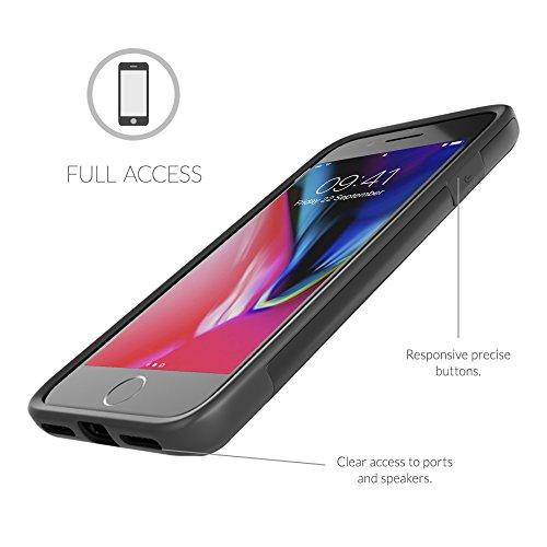 Cover iPhone 7 Plus , Snugg Apple iPhone 7 Plus Custodia Case [Scudo Sottile] Protettiva Per Pelle – Oro, Infinity Series Black