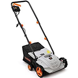 VonHaus 2 in 1 Lawn Scarifier – 1500W Electric Garden Lawn Rake with 4 Working Depths & 10m Power Cable