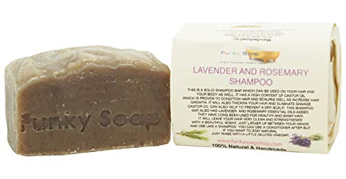 Funky Soap 1 piece Lavender & Rosemary Shampoo Bar 100% Natural Handmade aprox.120g