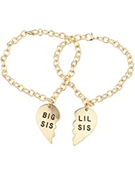 LUX accesorios Big Sis Lil Sis BFF Mejor Friends Forever Sisters Familia pulsera a juego