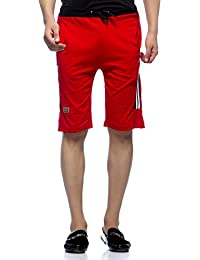 Demokrazy men's with black patch shorts