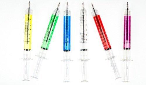 6 Spritzen Stifte perfekt für Krankenschwester (Kugelschreiber Kostüm)