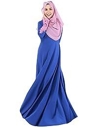 Hibote Vestido Largo de la Manga de Turquía Mujer Larga Abaya islámico Mujer Musulmana Ropa de