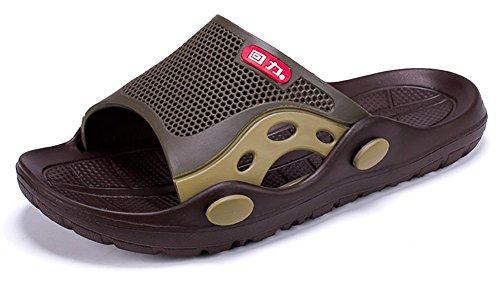 Slip-on Zapatillas de ducha antideslizante Sandalias Playa Mule Open Toe Zapatos de piscina baño Slide para adulto,