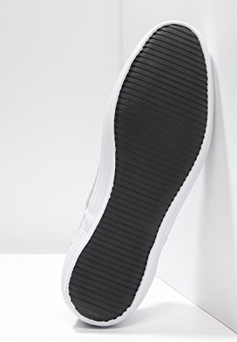 YOURTURN Sneakers Herren Grau, Blau o. Oliv, uni – Schnürschuhe Low-Top & sportlich – Freizeit Schuhe in Casual, halbhoch & mit Schnürung Hellgrau / Weiß