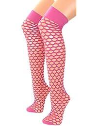 Damen Netz Overknee Strümpfe