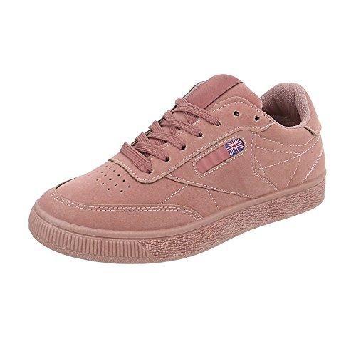 Ital-Design Scarpe da Donna Sneaker Piatto Sneakers Low rosa AB-203
