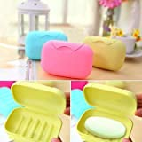 #5: HOME CUBE® Travel Soap Box Case Holder (Set of 2 Pcs) - Assorted colors