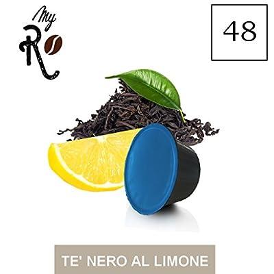 48 Capsules thé noir au citron Dolce Gusto compatibles à toute Machine à café Dolce Gusto, kit 48 capsules au thé noir au citron - MyRistretto