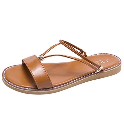 HuaMore Ciabatte Estive da Donna, Pantofole da Donna Casual alla Moda Pantofole Piatte Sandali da Spiaggia Scarpe da Spiaggia Pantofole da Spiaggia
