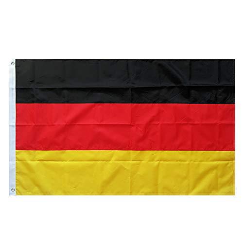 Lixure Deutschland Flagge/Fahne 300x500cm(3x5m) Premium Qualität Polyester für windige Tage Draußen/Drinnen Dekoration Flagge MEHRWEG