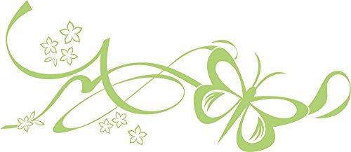 GRAZDesign 560002_30_822 Wandtattoo Ornamente mit Schmetterling | Blumentattoo für Wohnzimmer - Schlafzimmer - Kinderzimmer | Blumenranken und Pflanzen an die Wand als Wand-Aufkleber (69x30cm // 822 water lilly)