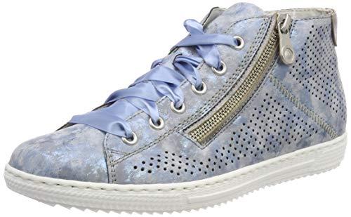 Rieker Damen L9427-12 High-Top, Blau (Heaven/Grey 12), 41 EU