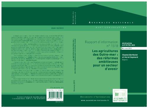 Rapport d'information sur les agricultures des Outre-mer