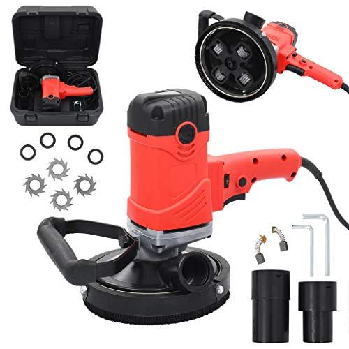 vidaXL Kit de Amoladora de Hormigón Manual de 1500W Herramientas Esmeriladora Lijado Pulido Bricolaje Rapidez Precisión Cubierta de Protección