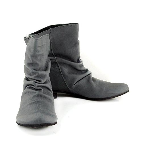 ... Felmini - Damen Schuhe - Verlieben Faro 8755 - Klassik Stiefel - Echtes  Leder - Schwarz ...