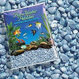 Reines Wasser Pebbles Pastell Blau Frost Aquarium Kies, 5-LB, Farbige Fisch Tank Kies -