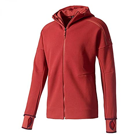 Adidas Men's Zne Hoody Sweatshirt, Red/Rojmis, Small