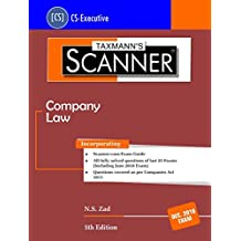 Scanner-Company Law (CS-Executive)-(December 2018 Exams) (5th Edition June 2018)