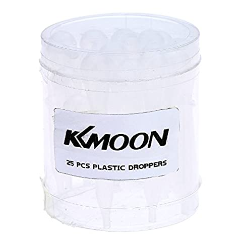 KKmoon 25Pcs Einmalige Tropfenzähler Pipette Transferpipetten Futterpipette Dropper mit Maßstab aus Kunststoff zum Airbrush Malen Farbsprühsysteme Makeup Medizin Experiment