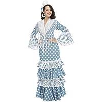 My Other Me - Disfraz de flamenca Guadalquivir para mujer, color turquesa, M-L (Viving Costumes 204376)