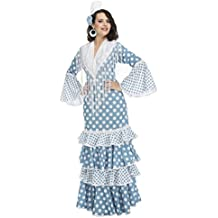 Feria de Abril. My Other Me Me-204376 Disfraz de flamenca Guadalquivir para mujer Color turquesa M-L Viving