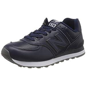 New Balance Herren 574v2 Sneaker, weiß, 43 EU