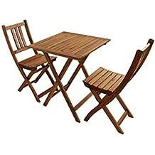 SAM® Conjunto para balcón, 3 piezas, mueble de jardín de madera de acacia
