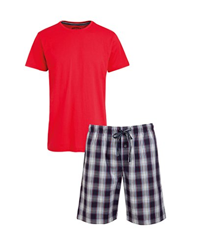 Jockey® Short Pyjama Mix, Rot, Größe 5XL