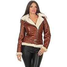 Hollert Damen Lammfelljacke JESSY Cognac Felljacke Winterjacke Bikerjacke  Lederjacke kurze Jacke mit Kapuze 100% echt c260c55fb0