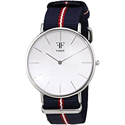 Faber Time Unisex Analogue Watch with white Dial Analogue