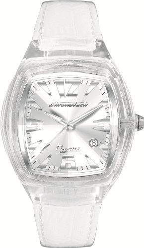 Chronotech Mens Watch CT7888J/09 with White Leather Strap