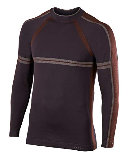 FALKE ESS Herren Maximum Warm Longsleeve Trend Men Oberteil, Havana, XL -