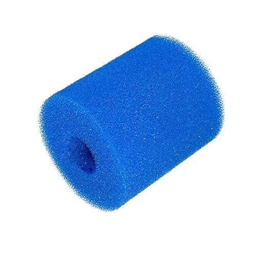 Nishci Pool Wäscher Ersatz Filterschwamm, Endstück fegt Schwamm Pool Filter Reinigungs Ausrüstung Schaum wiederverwendbarer waschbarer Reiniger zerteilt Pool-Vorfilter-Einlass-Schwamm -