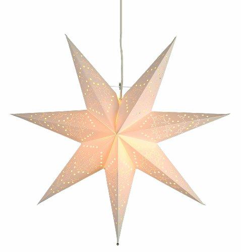 "Best Season Papierstern ""Sensy Star 55""  inklusive Kabel, Vierfarb-Karton, crème 231-19"