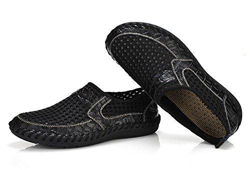 Besporter mesh slip on chaussures de sport aquatique et de plage water shoes pour homme Noir