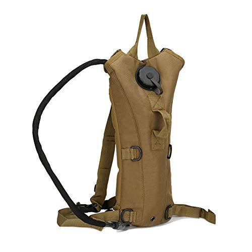 Trinkrucksack Rucksack mit 3L Wasser Blase militärische taktische Tasche für Radfahren Camping Bräunen