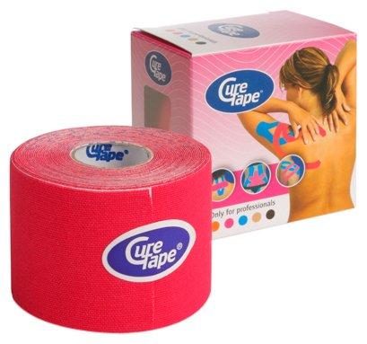 CureTape Kinesiologie Tape für Sport & Medizin rot 5 m x 5 cm, 1 Rolle - Rote Medizin