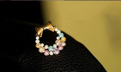 Fashion Hot Cute Sweet Lovely Bowtie Garland Rhinestone Earring Ear Stud