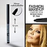 Fashion Make-Up FMU1130201 Crayon Yeux Rétractable N°1 Noir