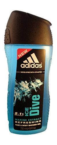 Adidas Shower Gel,2 in 1 - Ice Dive Marine Extract 250ml by kobe1