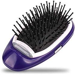 Mini brosse à cheveux ionique,leegoal portable électrique ionique brosse coiffante peignes cuir chevelu masseur pour tous les types de cheveux, Detangler cheveux, Antic-static, brillance naturelle